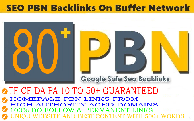 80+Permanent PBN Backlinks Web2.0 With High TF CF DA PA Do-follow Links Homepage Unique website