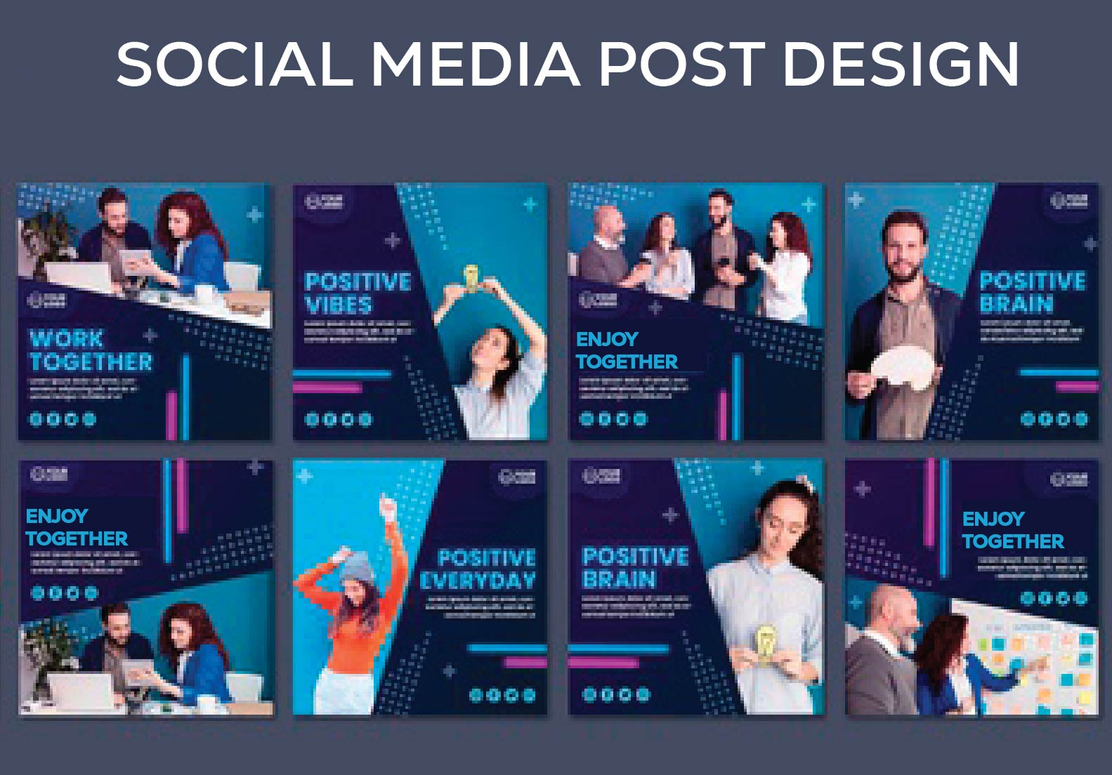 I will design 10 attractive social media posts design