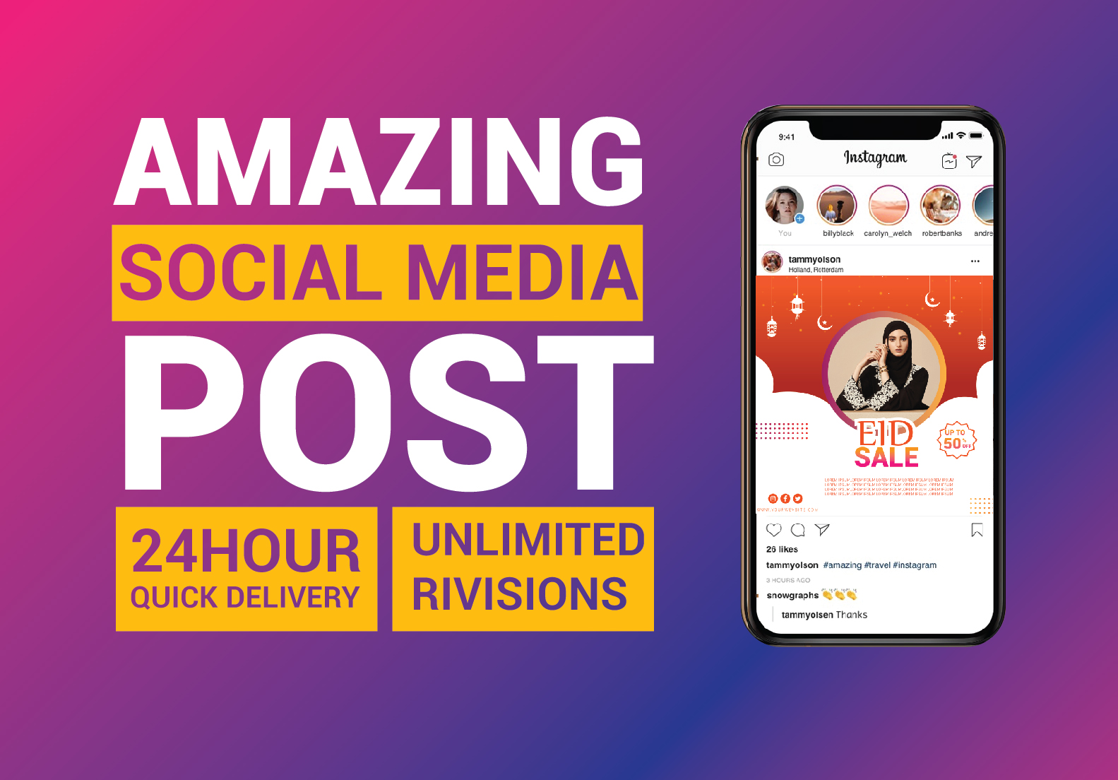 I will create 10 social post design for your business