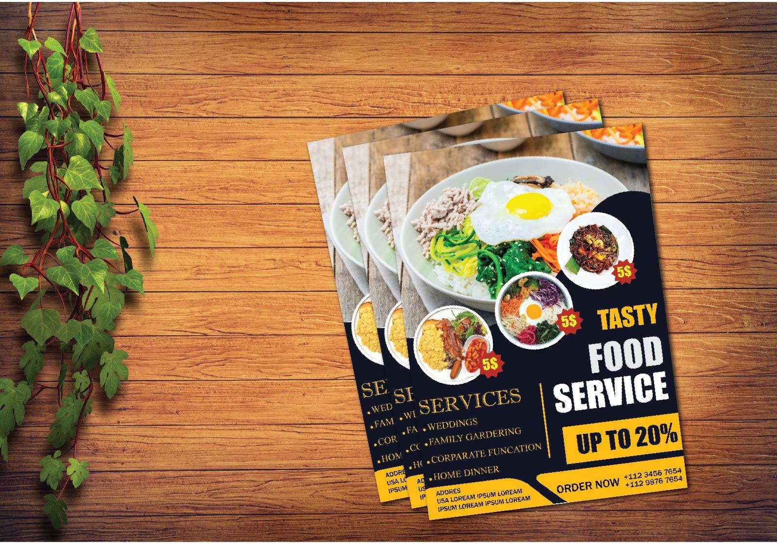 I will design flyer,poster or resturant menu