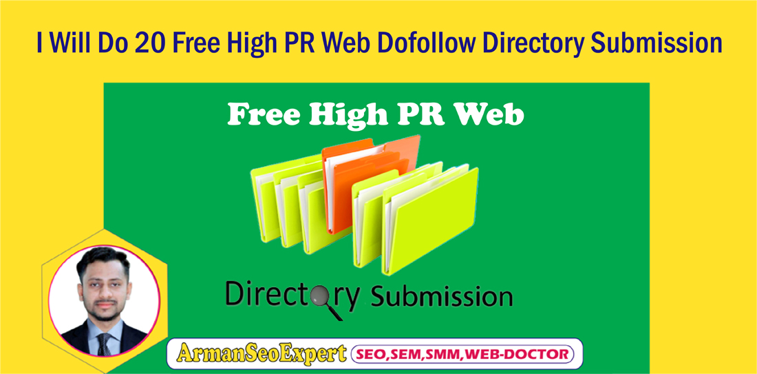 I Will Do 20 Free High PR Web Dofollow Directory Submission