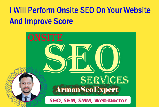 I Will Perform Onsite SEO On Your Website And Improve Score