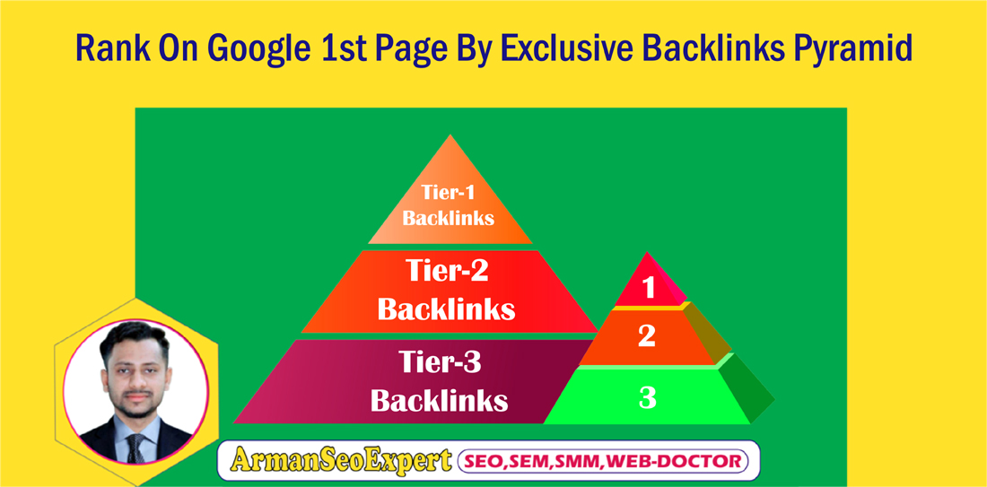 Rank on Google 1st Page By exclusive Backlinks Pyramid