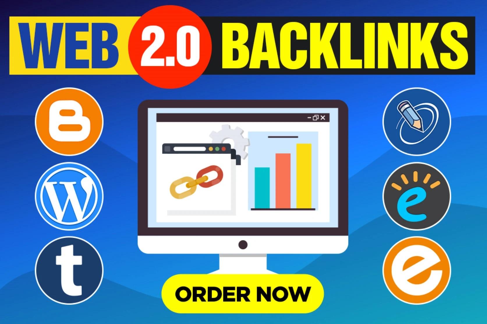 I will manually create 50+ HQ super web 2.0 Backlinks Contextual links