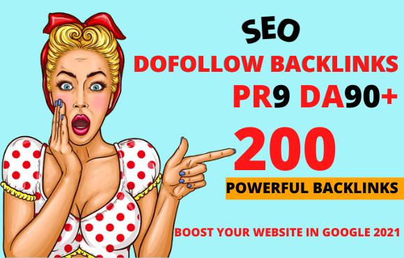 I Will Create 200 Dofolllow Backlinks