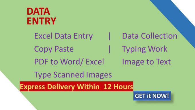 I will do data entry,  copy typing,  data extraction,  data scraping