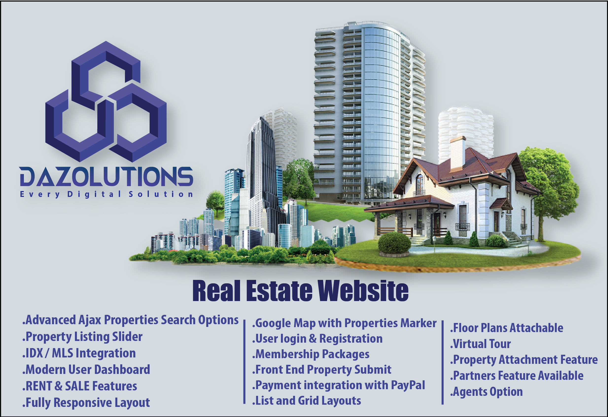 Our Team Build professional real estate websites for you