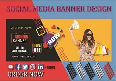 I will create a professional website fashion banner