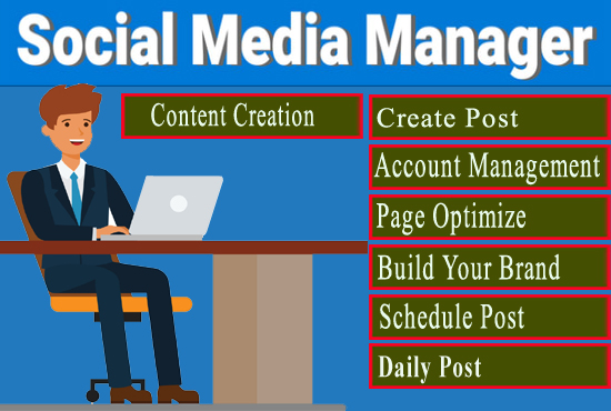 I will be Your Social Media Manager for 15 Days