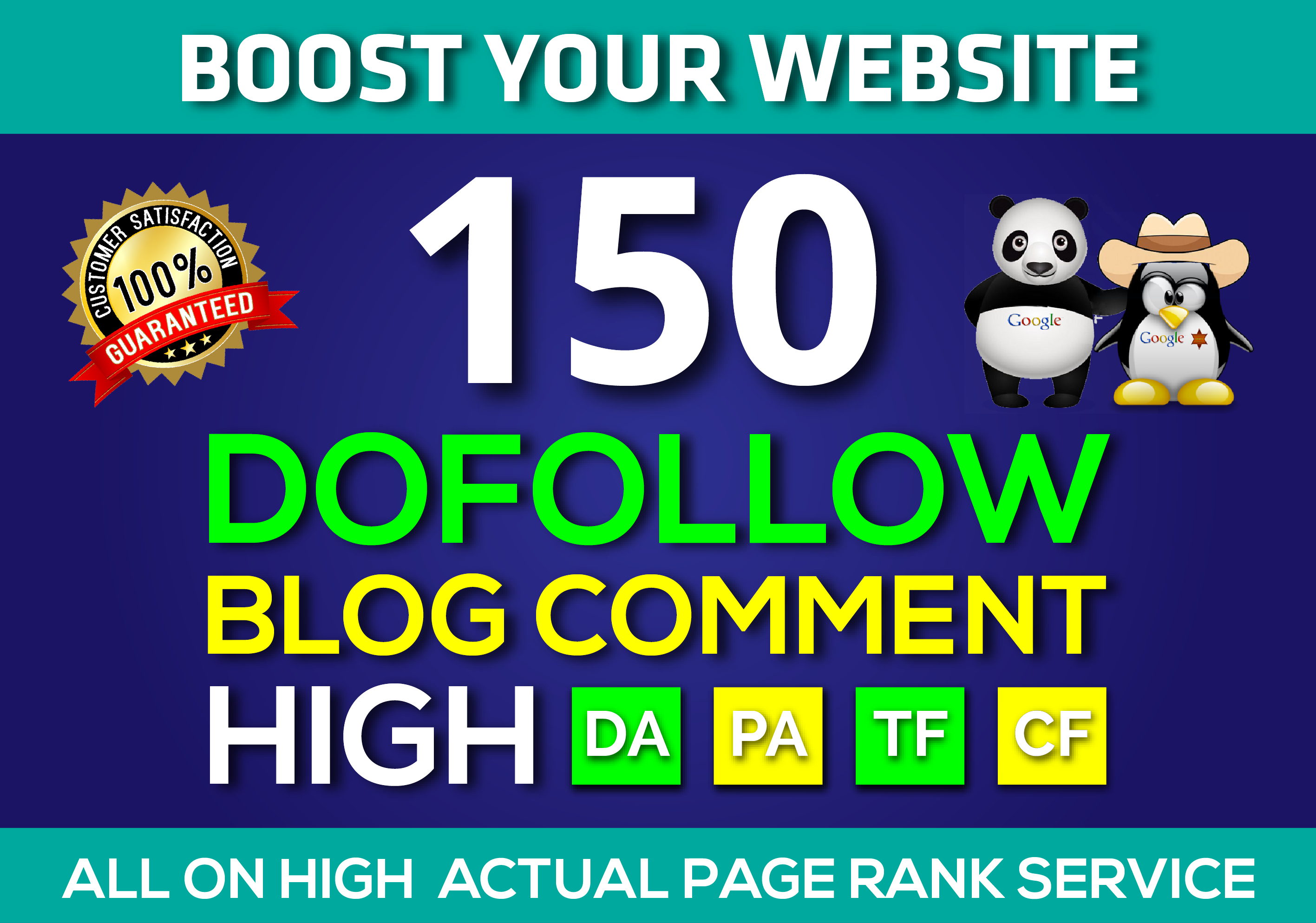 i will provide 150 Unique Domains Dofollow Blog Comment Backlinks HIGH DA PA TF CF on Actual Page
