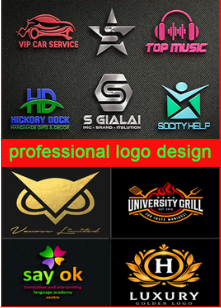 I will design professional and beautiful logo for your company
