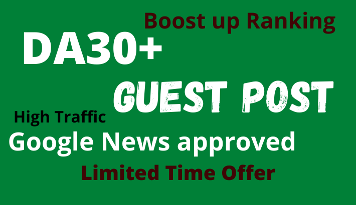 High quality guest post on google News approved Tech site DA30