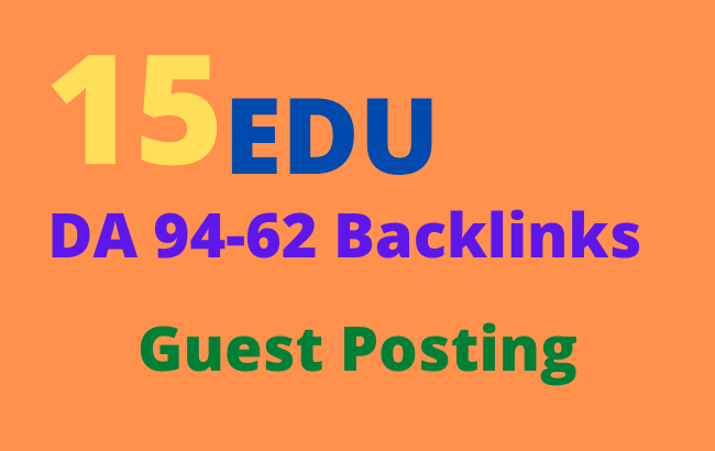 15 EDU high authority Guest Posts permanent links