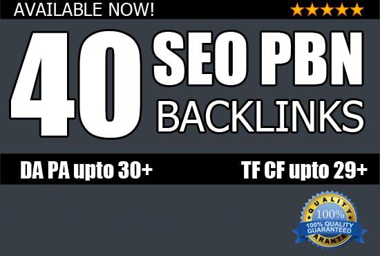 I will do 40 seo pbn backlinks high pa da Backlinks