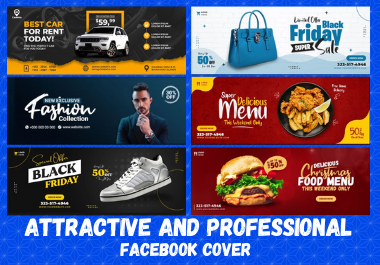 I will design an professional and attractive facebook cover