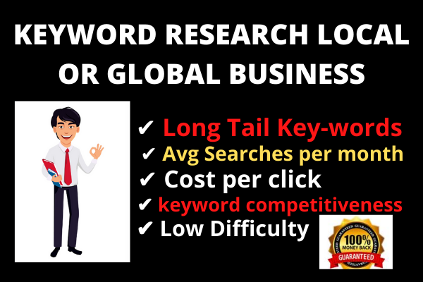I will do Keyword Research Competitors Analysis for Local or Global Business