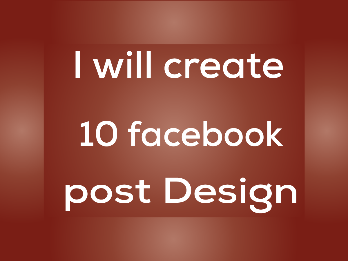 I will design 10 facebook post design