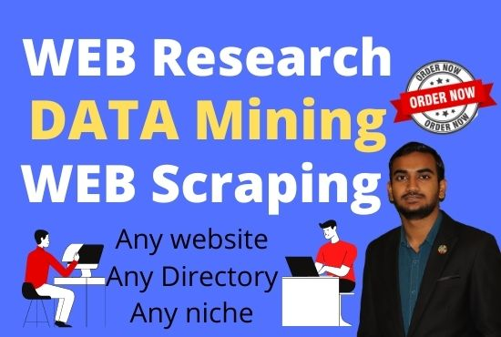 Virtual assistant for web research, Data entry, Web scraping & lead generation