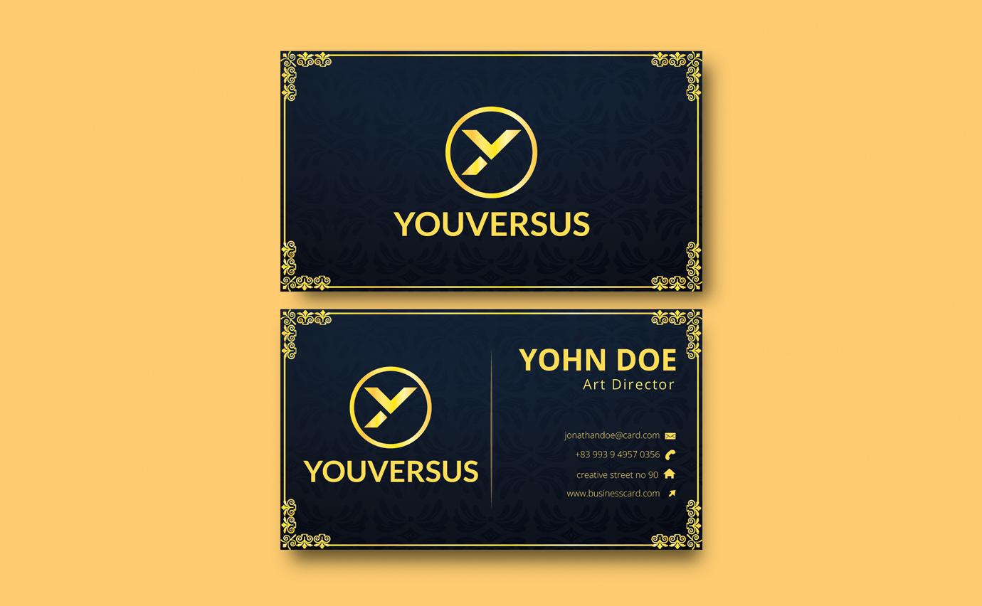 I will create unique business card design luxury business card design