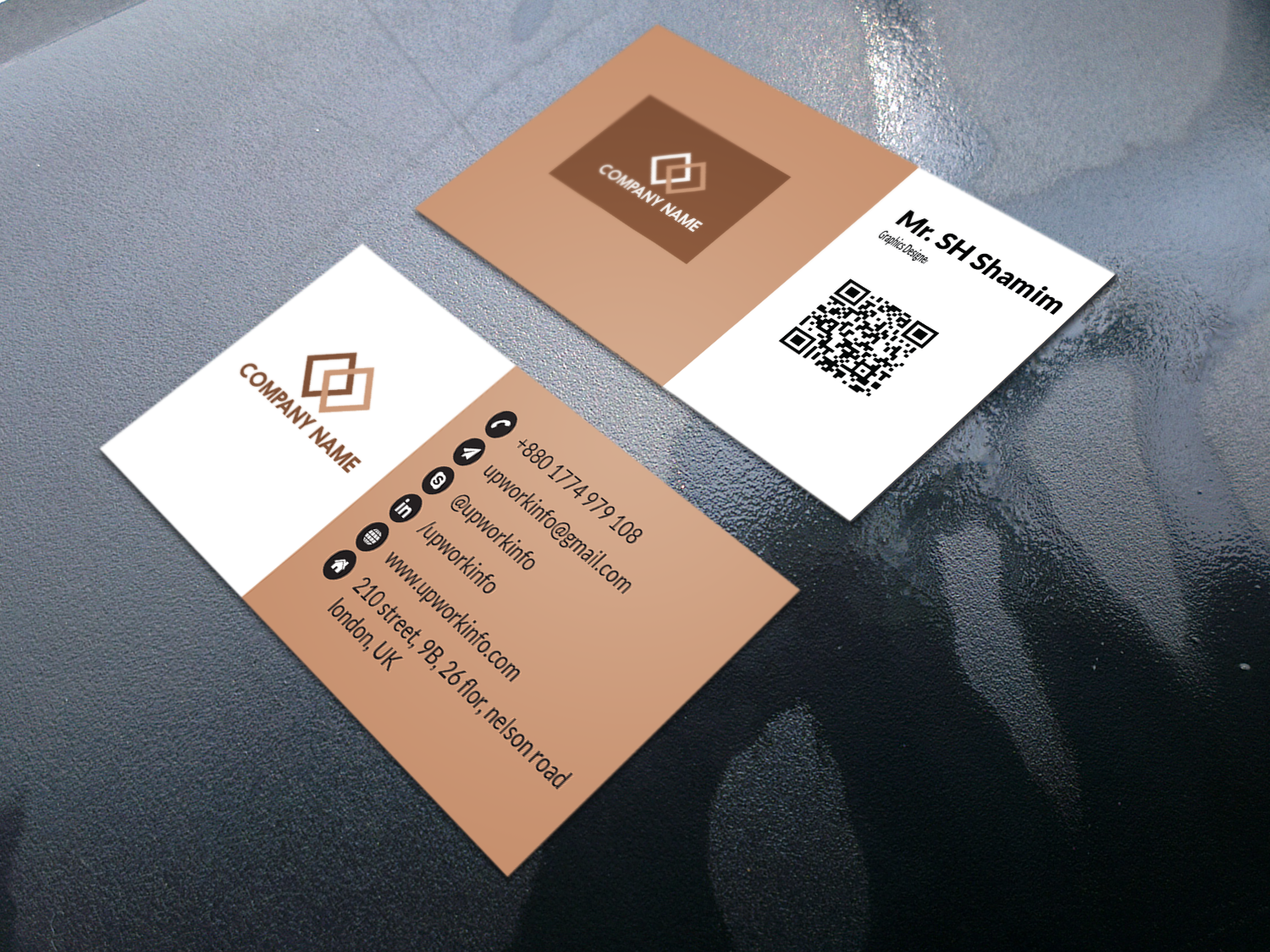 I will create minimal business card design,  luxury business card design just 1