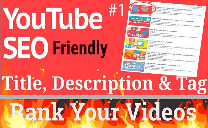I will rank your youtube videos organically through SEO