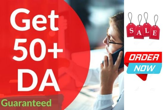 I will increase domain authority DA 50 plus very fast