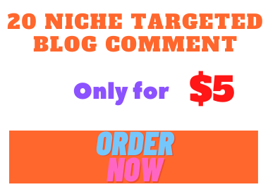 I will build 20 niche relevant blog commenting backlinks to rank website