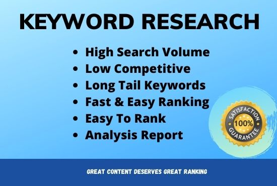 I will do targeted KEYWORD Research to your niche