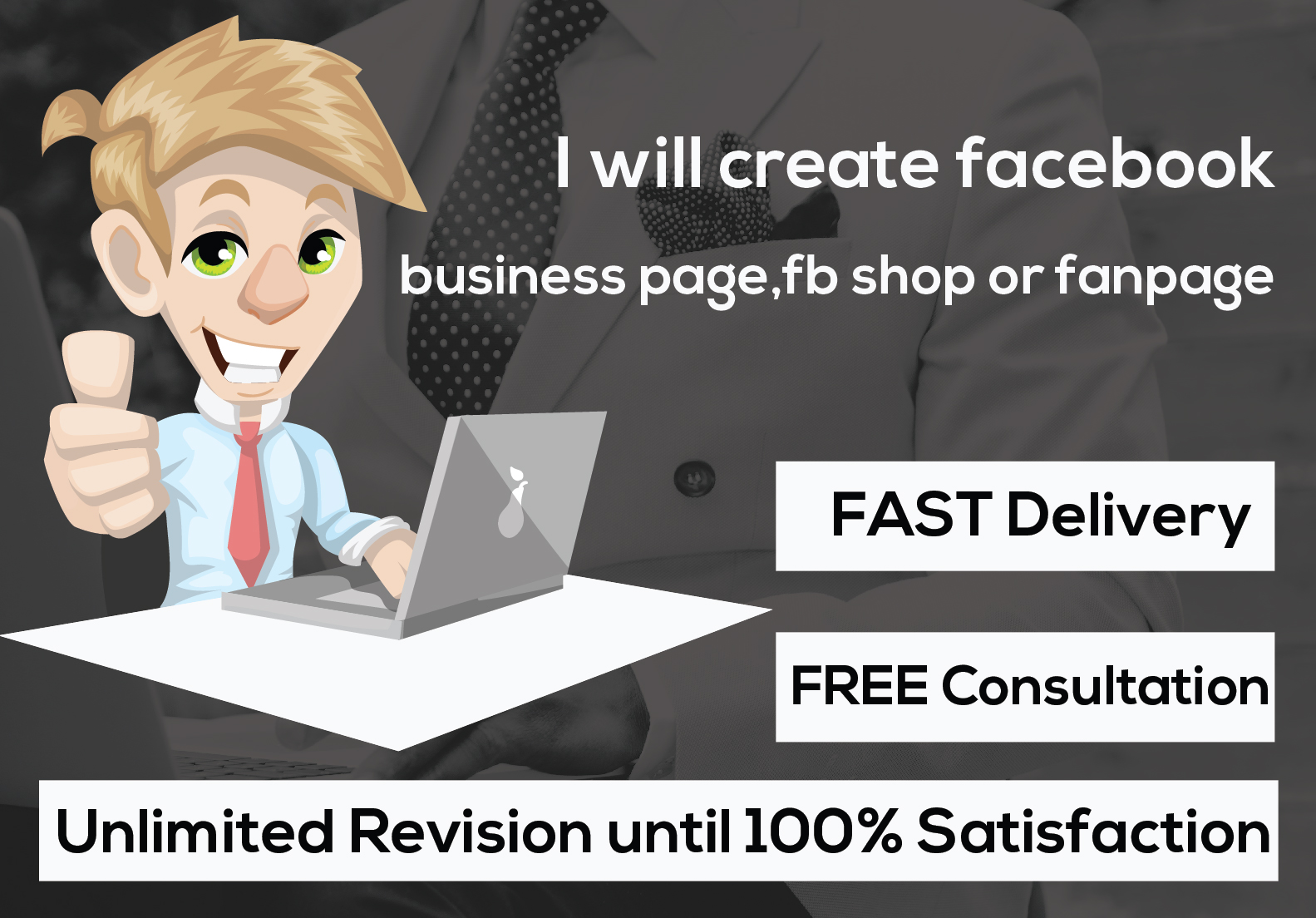 I will create and optimize a professional facebook business page