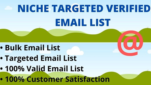 I will provide you niche targeted email list for email marketing