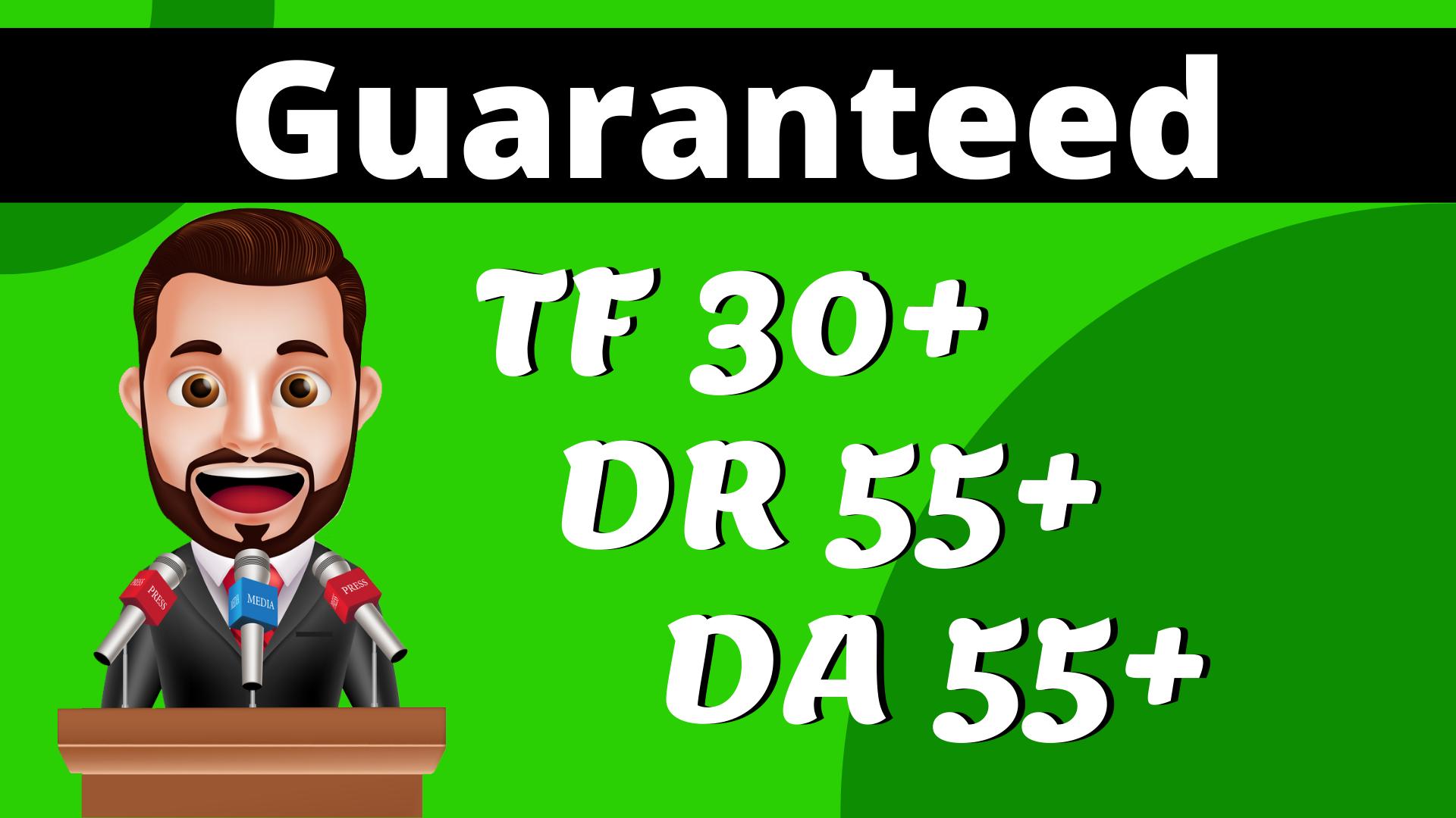 I Will Increase Domain Rating Ahrefs DR 55 Moz DA 55 Majestic TF 30+