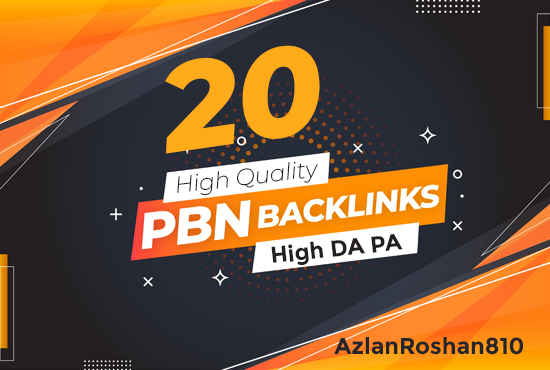 20 High Quality PBN Backlinks-High DA-High PA