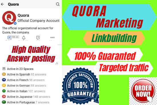 Get targeted traffic from your website with 30 HQ Quora answers