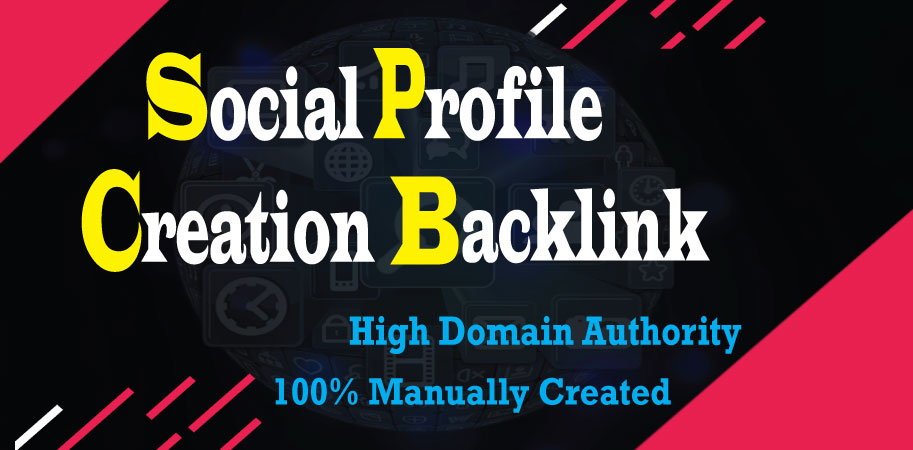I will create 100 social media profile or profile creation backlinks with high DA