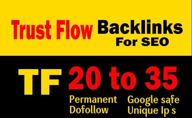 I will do 50 dofollow permanent backilinks high DR tf cf