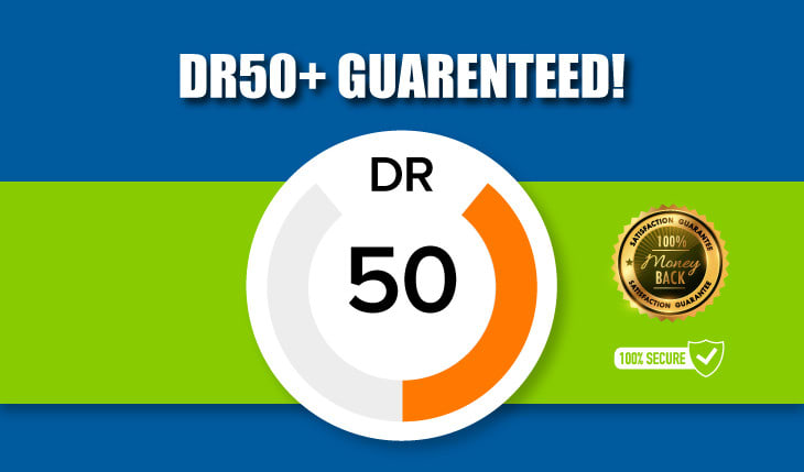 I will increase domain rating ahrefs DR 0 to 50