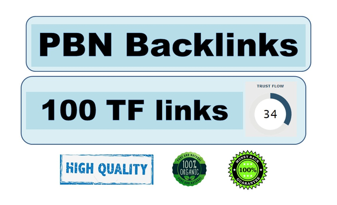 I will give 50 high tf cf permanent dofollow backlinks for SEO