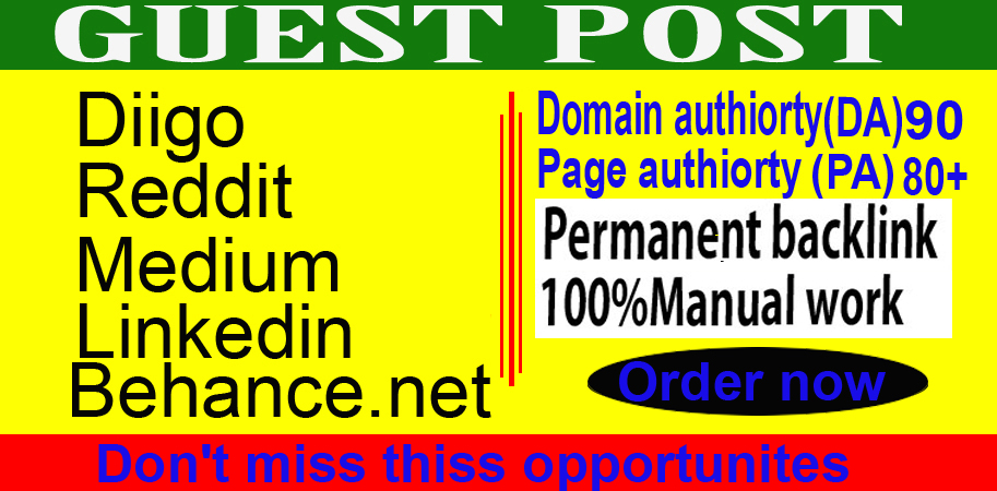 write and publish 5 guest posts on high-quality permanent backlinks