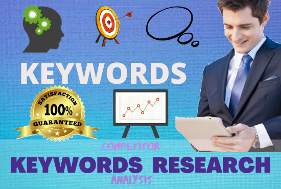 I will do excellent SEO keyword research and competitor analysis to rank your site fast.