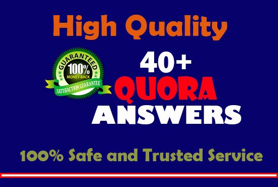 High quality 40+ Quora Answer with website keyword,  URL