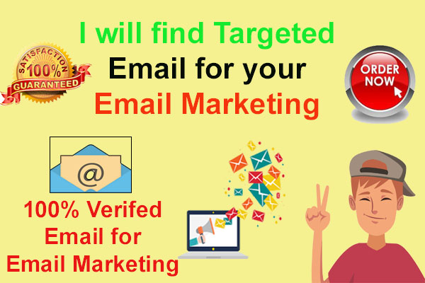I will find 50 K Targeted Email for your Email Marketing
