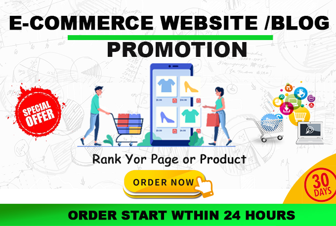 Promote your etsy promotion,  ebay,  e-commerce stores,  products real traffic to websites for 30 days