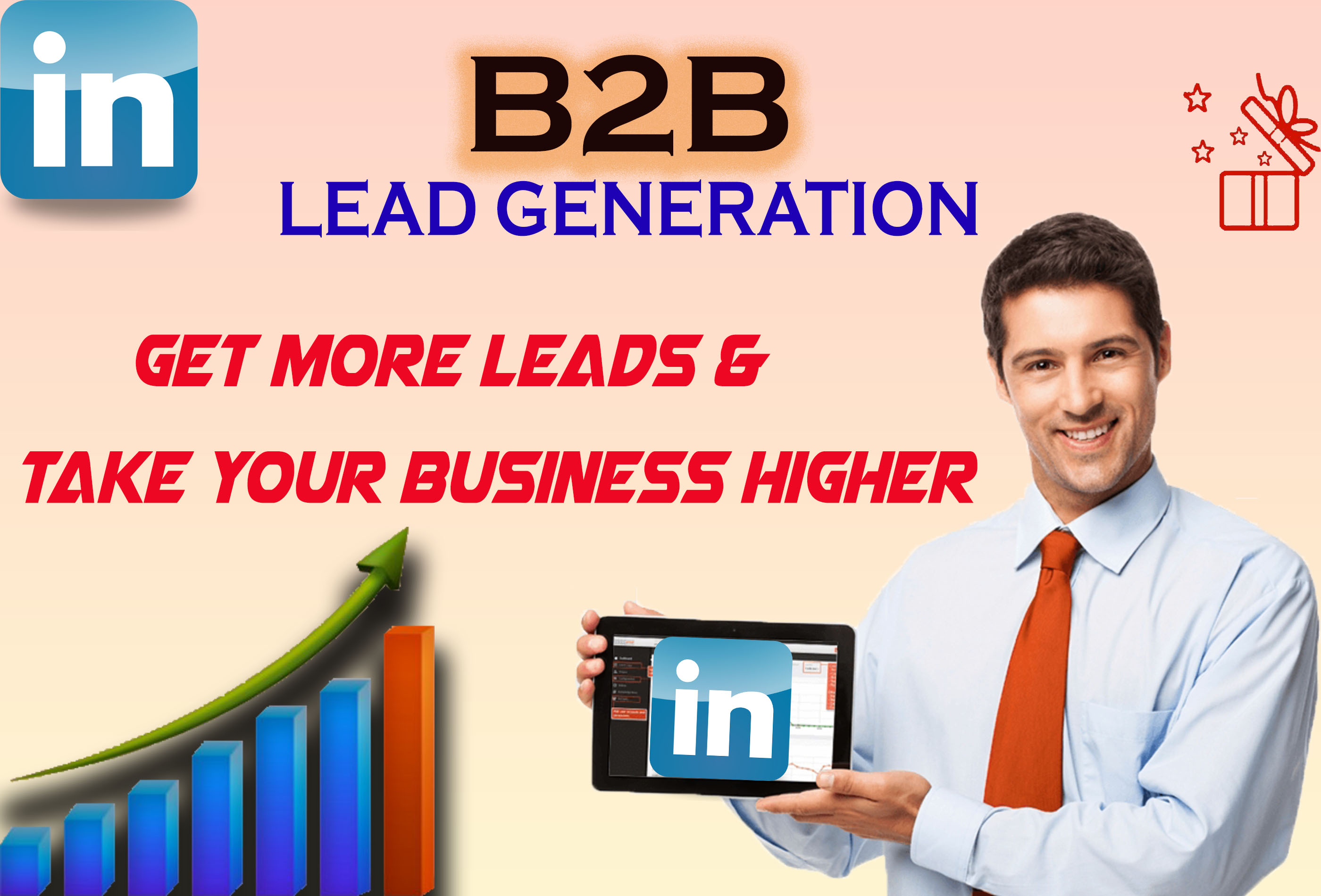 I will give Linkedin marketing and lead generation