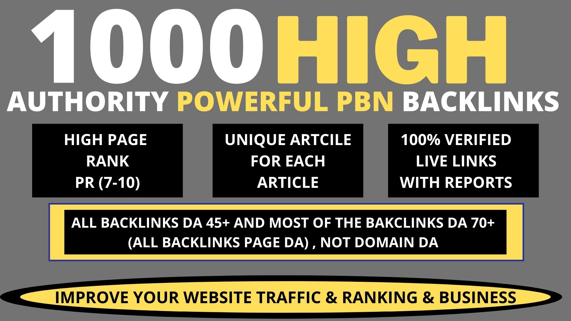 Build Premium 1000 PBN & WEB 2.0 Backlink with Permanent Dofollow & High DA50+ PA40+ TF CF