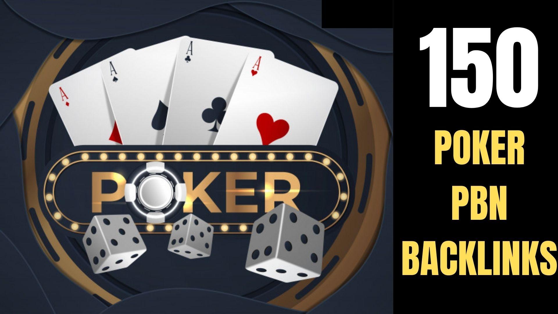 Permanent 150+ powerfull Casino,  Gambling,  Poker,  Sports Betting High Quality unique site Backlinks