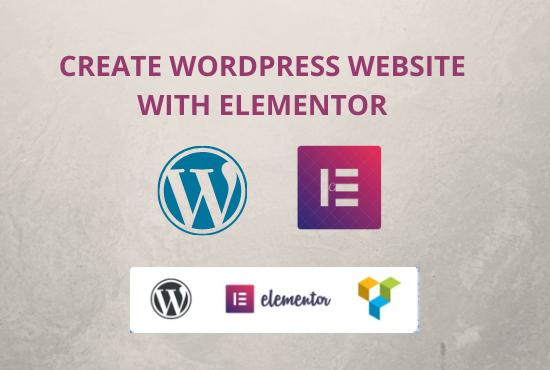I will design wordpress website with elementor