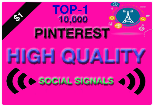 Super offer High PR9 10,000 Pinterest SEO social signals bookmarks
