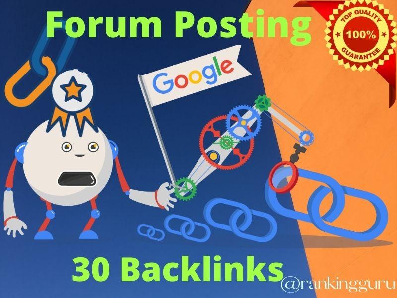I will manually do 50 high quality forum posting Backlinks