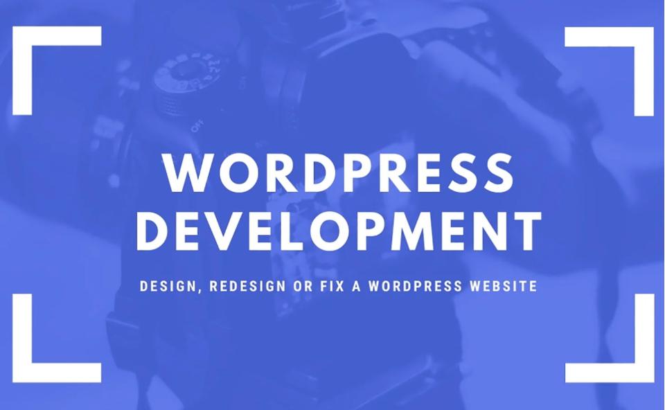 I will design,  redesign,  or fix a WordPress website