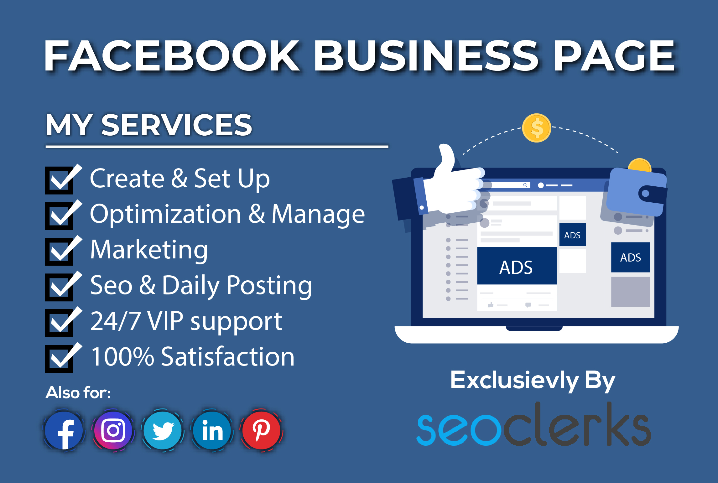 I Will Setup Professional Facebook Business Page,  Manage & Optimize It